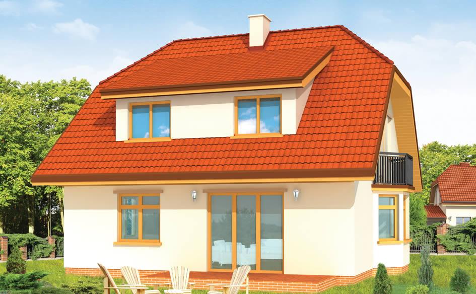 Крыши домов мансардного типа фото